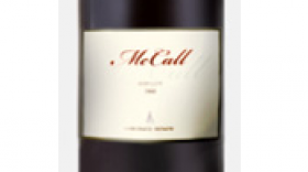 McCall Wines 2009 Merlot Label