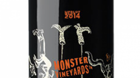 Monster Vineyards 2015 Merlot Label
