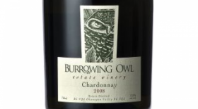 Burrowing Owl Estate Winery 2008 Chardonnay Label