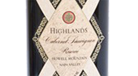 Highlands Cabernet Sauvignon Reserve Howell Mountain Label