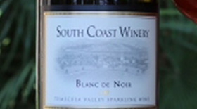 South Coast Winery 2013 Blanc de Noir  Label