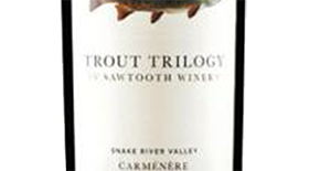 Sawtooth Trout Trilogy Carmenere Label