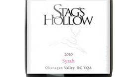 Stag's Hollow 2010 Syrah (Shiraz) Label