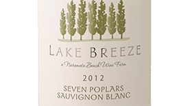 Lake Breeze Seven Poplars 2012 Sauvignon Blanc Label