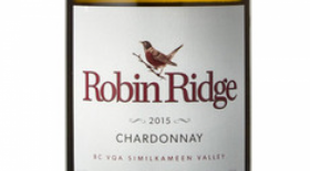Robin Ridge Winery 2015 Chardonnay Label