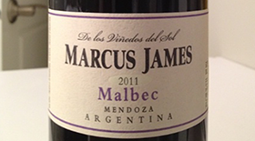 Marcus James 2011 Malbec | Red Wine