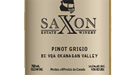 Saxon Estate Winery 2012 Pinot Gris (Grigio) Label