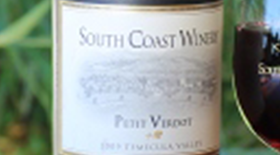 South Coast Winery 2010 Petit Verdot Label