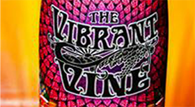 The Vibrant Vine 2013 Gewürztraminer Label