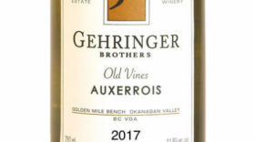 Gehringer Brothers Old Vines Auxerrois 2017 Label