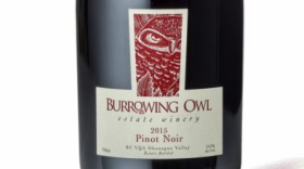 Burrowing Owl Estate Winery 2015 Pinot Noir Label
