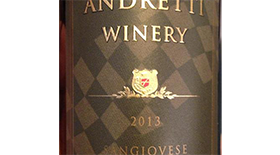Andretti  Napa Valley Sangiovese Label