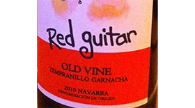 Red Guitar 2010 Tempranillo Label