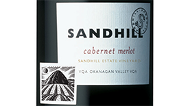 Sandhill Wines 2011 Cabernet/Merlot Blend Label