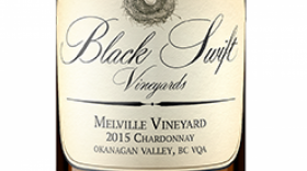 "Black Swift Vineyards 2015 ""Melville Vineyard"" Chardonnnay Label"