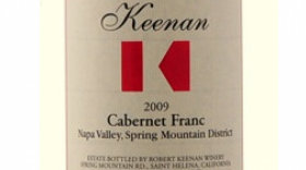 Robert Keenan Winery 2009 Cabernet Franc Label