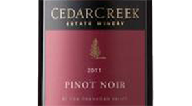 CedarCreek Estate Winery 2011 Pinot Noir Label