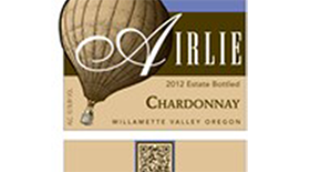 Airlie Winery 2012 Chardonnay Label
