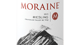 Moraine Estate Winery 2013 Riesling Label