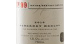 Wayne Gretzky Estates No.99 2012 Cabernet-Merlot Label