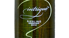 Intrigue Wines 2012 Riesling Label