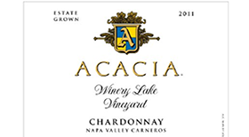 Acacia Vineyard Winery Lake Vineyard 2011 Chardonnay Label