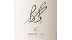 B3 Wines 2008 Riesling Label