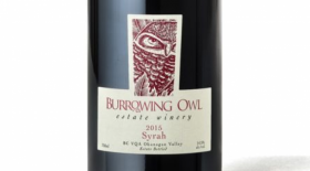 Burrowing Owl Estate Winery 2015 Syrah Label