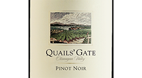 Quails' Gate Winery 2012 Pinot Noir Label