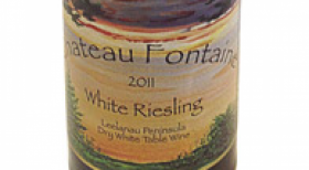 Chateau Fontaine Dry White Riesling Label
