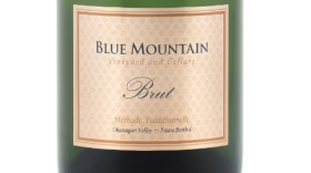 Blue Mountain Vineyard and Cellars Gold Label Brut Label