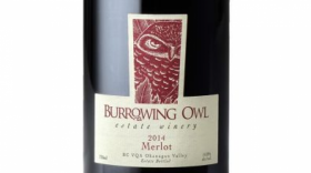 Burrowing Owl Estate Winery 2014 Merlot Label