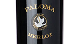 Paloma Vineyard 2010 Merlot Label