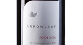 Arrowleaf Cellars 2012 Pinot Noir Label