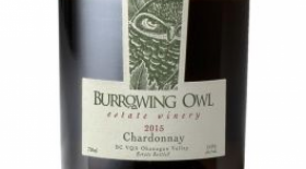 Burrowing Owl Estate Winery 2015 Chardonnay Label