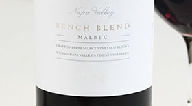 Bench Blend Malbec Label