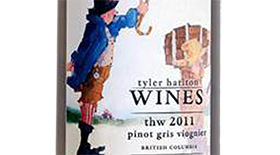 TH Wines 2011 Pinot Gris (Grigio) blend Label
