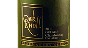 Unoaked Chardonnay Oregon Label