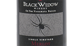 Black Widow Winery 2012 Merlot Label