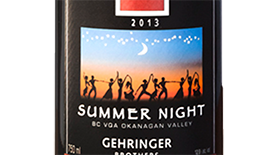 Gehringer Brothers Summer Night 2013 Label