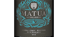 Lands and Legends Pinot Noir Central Otago Label