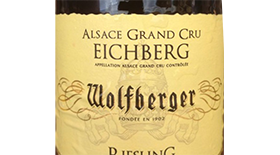 Wolfberger 2013 Riesling Label