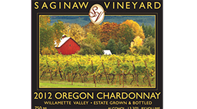 Saginaw Vineyards 2013 Chardonnay Label
