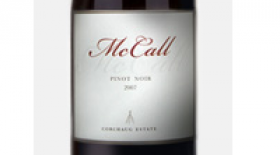 McCall Wines 2012 Pinot Noir Label