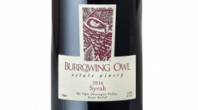 Burrowing Owl Estate Winery 2016 Syrah Label