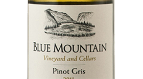 Blue Mountain Vineyard and Cellars 2011 Pinot Gris (Grigio) Label