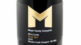 Meyer Family Vineyards 2016 Micro Cuvée Pinot Noir Label