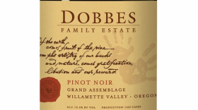 Dobbes Family Estate Grand Assemblage 2012 Pinot Noir Label
