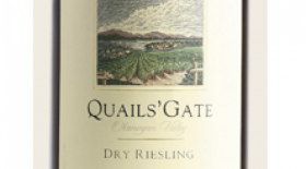 Quails' Gate 2014 Dry Riesling Label