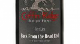 Coffin Ridge Boutique Winery Back from the Dead Red 2015 Ontario VQA Label